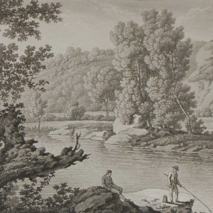 Aquatint from 1817 by the famous Austrian engraver Benedict Piringer, titled, Vue des lords de la Sévre, dans le Bois de la Garenne á Clisson