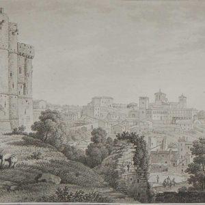 1817 Aquatint Vue de Clisson et de la maison Valentin