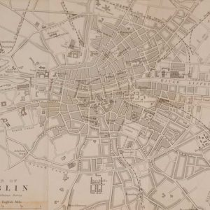 Antique plan of Dublin Ireland, printed in 1878, printed by John Murray in London.