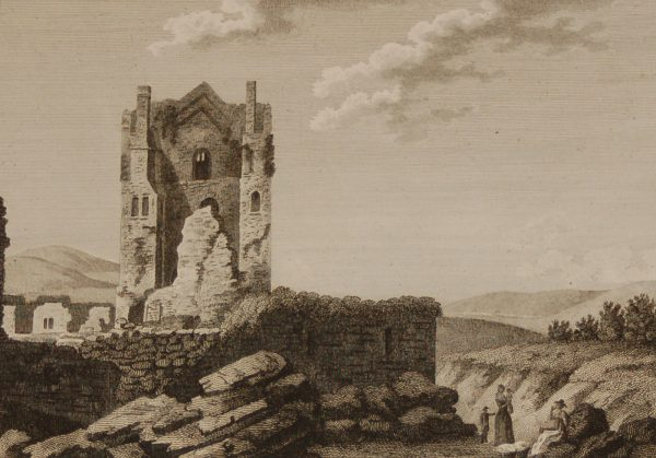 Arrahmacart Castle County Laois , Ireland. 1797 original antique print a copper plate engraving.
