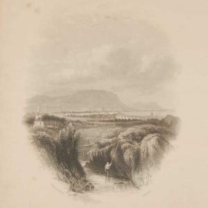 1850 antique print a steel engraving of Belfast in County Antrim. The print was engraved bJ Hinchcliffe and is after a drawing by A Nicholl.