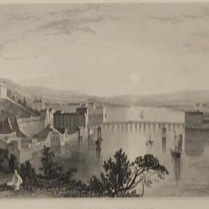 1832 antique print new ross wexford ireland