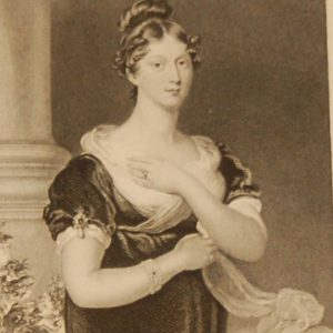 The Princess Charlotte, antique print, Victorian, an engraving from circa 1880 after the original painting by Sir Sir Thomas Laarence.